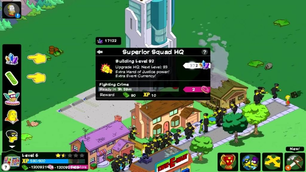 Скриншот из игры Simpsons: Tapped out