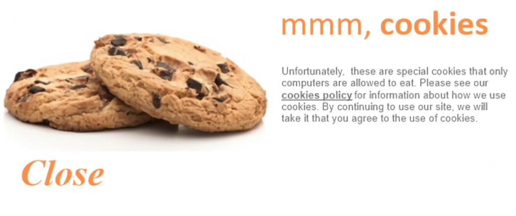 Интересная форма согласия на сбор куки на сайте